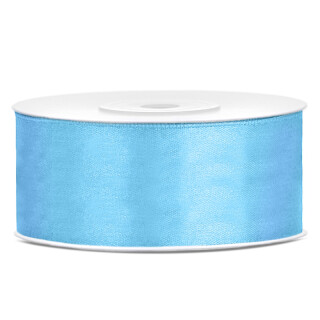 Satinband blau 25m x 25mm